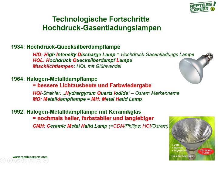UVB Lampen für Terrarien - welche unterschiedlichen Technologien gibt es?