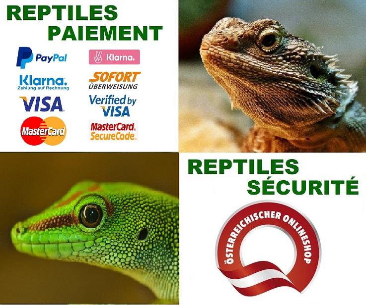 paiement garantie pour Reptiles Expert webshop